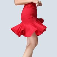 ingrosso gonna di pratica latina-2019 Latin Dance Skirt Women Stage Performance Practice Irregular Skirt Lady Rumba Samba Tango Cha Cha Ballroom Dance Dress