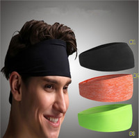 Wholesale sport head band men for sale - Group buy headband men women sport yoga fitness dance cycling head hair band swrap wide headwear gym erercise sport sweatband MMA2228
