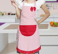 Wholesale cute aprons pockets for sale - Group buy Fashion Hot Delicate Cute BowKnot Kitchen Restaurant Cooking Aprons With Pocket for Women SN2379