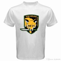 ingrosso camicia bianca del ragazzo-Metal Gear Solid Fox Hound Special Forces Group Mens T-shirt bianca Taglia S a 3XL T Shirt Uomo Fashion Custom manica corta Boy's Bi
