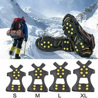 Wholesale shoe crampons grips for sale - Group buy Ice Snow Grips Anti Slip On Over Shoe Boot Studs Crampons Cleats Spikes Grippers Studs Cleats Crampons Outdoor Gadgets CCA11944