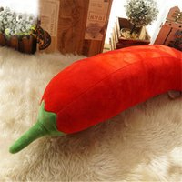 Wholesale giant soft toy rabbit resale online - Fancytrader cm Big Soft Red Beauty Chili Toy Giant Stuffed Hot Pepper Doll Pillow Eggplant Plush Toy Novelty Gift Sizes