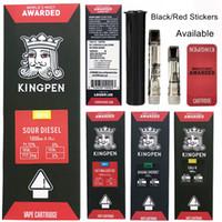 Wholesale metal atomizers for e cigarettes for sale - Group buy Newest Kingpen Vaporizer Pen Cartridges Empty Vape Pen KP ml Ceramic For Thread Battery Atomizer E Cigarettes King Pen