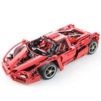 f1 araba oyuncakları toptan satış-F1 monte araba yarışı araba modeli çocuk istihbarat montaj yapı taşı oyuncak