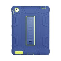 halter silikon tablette großhandel-Silikon + Hart PC Tablet Hybrid Ständerabdeckung für iPad 2 3 4 Pro 10.5-Hülle mit Ständerhalter