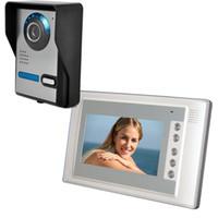 ein zoll lcd zeigt groihandel-7-Zoll-TFT-LCD-HD-Display Verkabelt Wasserdichte Überwachung Fernentriegelung Video-Gegensprechanlage Türklingel Niedrigenergiehaushalt Eins zu eins