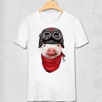 4c09d2dfd8d mens designer clothes brand polo Animal T Shirt Cool Panda Pug leopard Wolf  Deer Cat Pig Air force uniform design T-shirt Funny Hipster