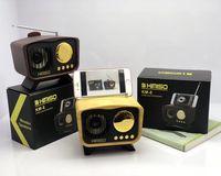 Wholesale antennae speaker for sale - Group buy KM6 Retro TV Wood Speaker Bluetooth Mini Soundbox with FM Antenna Stereo Hifi Super Bass Subwoofer USB TF Music Player