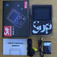 consola de libros al por mayor-SUP Mini Consola de juegos portátil Sup Plus Reproductor de juegos nostálgico portátil 8 bits 129168300400400 en 1 FC Juegos Pantalla LCD a color Reproductor de juegos
