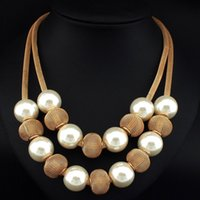 Wholesale popcorn balls for sale - Group buy UKMOC Boho Fashion Popcorn Chain Simulated Pearl Metal Ball Women Chokers Statement Jewelry Accessories Pendants Necklaces