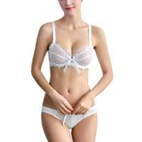 48d3f4c9375f2 lingerie set Plus Size Lingerie Sexy Ultra thin Embroidery Lace Transparent Bra  women underwear Push Up Bra set Sexy Lace Bra