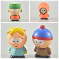 Wholesale red car decorations for sale - Cartoon South Park Exquisite Toy Car Decoration Lovely PVC Anti Wear Small Exquisite Doll Simple Portable Hot Sale hs I1