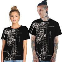 du liebhaber großhandel-Poison 3-D Digital Printing Leisure Damen T-Shirt Lockerer, kurzärmeliger Polyesteranzug mit rundem Kragen für Liebhaber in Europa und Amerika