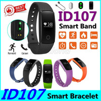 Wholesale id107 smart bracelet for sale – best ID107 Smart Wristband ID Smart Bracelet Waterproof Fitness Tracker Sports Bluetooth Bracelet Watch for Android IOS Smart bands