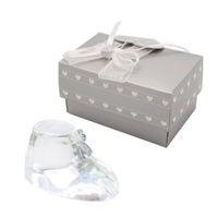 сувенир с кристаллами для детей оптовых-Крещение Вернуться Подарки Выбор Кристалл Детская Обувь Крещение Сувенир Baby Shower Сувениры Подарки На День Рождения WB83