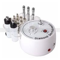 schönheit diamant-maschine großhandel-Heißeste 3 In 1 Diamant Mikrodermabrasion Maschine Skin Lifting Peeling Schönheit Maschine Faltenentfernung mit besten Effekten