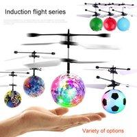 neue smart spielzeug großhandel-Kinder fliegen leuchtende Spielzeug Phantasie neue Mini Flugzeuge schwebte leuchten Smart Sensor Flying Ball Kinder Luminosas Spielzeug