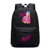 venda de sacos de homens venda por atacado-Venda quente Jojo Siwa Mochila Homens Mulheres Meninos Meninas Adolescentes Mochila Novo Padrão Mochila Escolar Moda Saco