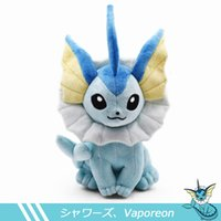 Wholesale vaporeon plush toy resale online - 37cm Vaporeon Plush Toy Eevee Plush Doll Soft toy Classic Plush Hot Toys Christmas Gifts Baby Toys For Children MX190925