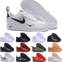 dantel kravat ilmi pembe ayakkabılar toptan satış-Ucuz 1 Yardımcı Klasik Siyah Beyaz Dunk Erkek Kadın Rahat Ayakkabılar kırmızı bir Spor Kaykay Yüksek Düşük Kesim Buğday Eğitmenler Sneakers 36-45