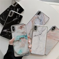Wholesale stitch phone cases online – custom New Designs Electroplating Marble Case for iPhone XS Max XR X Stitching marble patterns Phone cases for Iphone XS Plus