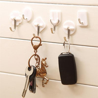 Wholesale kitchen towel hooks wall resale online - 6PCS Bathroom Strong Adhesive Hook Wall Door Sticky Hanger Holder Kitchen Towel Hooks D25