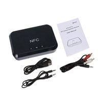 nfc ses alıcısı toptan satış-NFC Kablosuz Stereo Bluetooth Ses Alıcısı Taşınabilir Bluetooth Adaptörü NFC-3.5mm / RCA çıkış Müzik Ses Araba Hoparlör Için Xiaomi