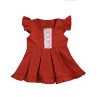 bebek hattı romper elbisesi toptan satış-Yaz Bebek Romper Çocuk Kız Dantel Elbise Yürüyor Çocuk Giyim Küçük Kardeş Büyük Kardeş Aile Eşleştirme Kıyafetler