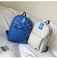 okul çantaları öğrencisi toptan satış-Unisex Şampiyonlar Mektup Sırt Çantası Taşınabilir Omuz Çantaları Öğrencilerin Sırt Çantaları CHAMPI Okul Kitap Çantası Açık Seyahat Saklama Torbaları Sırt Çantası C3275