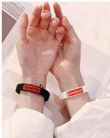 печатные резиновые браслеты оптовых-New York SUP Yonth Dancer Печатные Письма Силиконовые Спортивные Браслеты Браслеты Женщины Резина Фитнес Браслет Браслет
