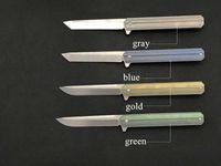 Wholesale d2 titanium handle knife resale online - Tactical S13 Titanium Alloy Handle Folding Knife D2 Steel Folding Knife Outdoor Survival Foldable Knife A02