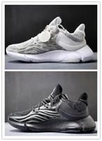 ingrosso scarpe per uomo-Alpha M nuovissima copertura noctilucent babysbreath la luce degli uomini superiori MD Bouncetm intersuola pattini correnti formatori sneakers designer di scarpe di misura 3