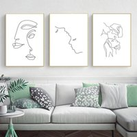 Wholesale paintings ladies figure for sale - Group buy Abstract Lady Line Drawing Picture Home Decor Nordic Canvas Painting Wall Art Figure Body Hand Posters and Print for Living Room