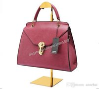 Wholesale handbags rack resale online - Best selling new style titanium gold stainess steel handbag display stand wig hat purse women s bag display holder rack shelf