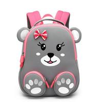 mochila cor-de-rosa venda por atacado-Little Bear bebê Mochilas Daycare crianças Preschool Picnic Viagem Zip Ombro Mochila Sacos crianças presentes princesa pinkgray nova moda SBR