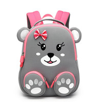 ingrosso zaino rosa orso-Little Bear zaini per bambini Daycare kids Primi passi Picnic Travel Zip Shoulder Backpack Borse per bambini regali principessa pinkgray new fashion SBR