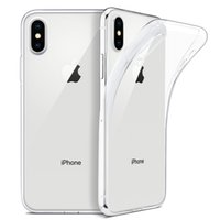 iphone kablosuz şarj kasası toptan satış-IPhone X Kılıf için İnce Temizle Yumuşak TPU Kapak Desteği Kablosuz Şarj iphone 5.8
