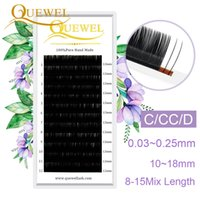 Wholesale eyelash extensions trays silk resale online - Quewel Lashes Extension Silk Fiber Lines Tray Single Eyelash Extension Makeup Eyelashes Personality Eyelashes LM