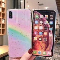 Wholesale full metal pocket for sale - Group buy Soft TPU Rainbow Cases For Apple iPhone plus XS MAX Full Protection iphone pro max case