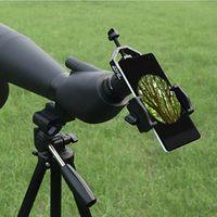 alcance de la pc al por mayor-1 PC Adaptador universal para teléfono inteligente Soporte para telescopio telescopio Microscopio Herramientas binoculares monoculares