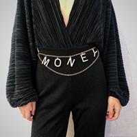 correntes de cristal para vestidos venda por atacado-Vintage Cadeia Multilayer corpo Declaração Mulheres Chains Retro barriga da cintura vestido de festa da jóia acessório Rhinestone Carta cinto de dinheiro