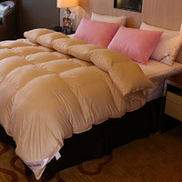 двуспальные кровати оптовых-5-Star Hotel Quality 3 color 100%  Down Luxury white comforter bedspreads quilted blanket winter king queen full twin size