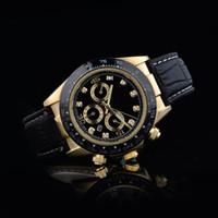 ingrosso la tigre si ferma-relogio masculino mens orologi Luxury fashion designer di moda quadrante nero calendario bracciale oro chiusura pieghevole Master Male 2021 regali coppie