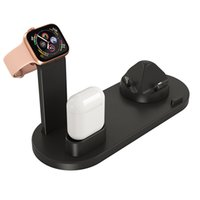 iphone typ handys großhandel-3 in 1 10W Schnelles Dock Charger Dock-Station schnell aufladen für Ios Micro-USB-Typ-C-Kopfhörer-Uhr-Handy USB-Schnell-Ladegerät