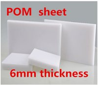 feuille de plastique blanc achat en gros de-Épaisseur de 6mm POM Plaque Couleur blanche Plaque en polyoxyméthylène Modèle en acier Gravure CNC Panneau Feuille de plastique d'ingénierie