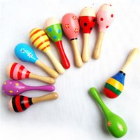 Wholesale baby rattles percussion for sale - Group buy Baby Rattle Baby Toys Wooden Kids Child Sand Hammer Early Education Toy Musical Instrument Percussion Toy Brand Gift Baby