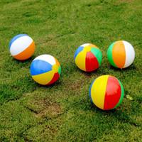 aufblasbare ballon pvc spielzeug großhandel-30cm / 12inch Aufblasbare Strand Pool Spielzeug Wasser-Kugel Sommer-Sport-Spielen Spielzeug-Ballon in der freien Natur Spaß-Geschenk MMA1890-1 Water Beach Ball Play