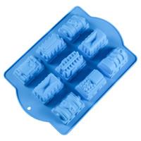 торт плесень дети оптовых-3D Поезд Торт Плесень Мультфильм Slone Mold Детские игрушки DIY