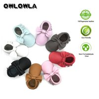 Wholesale baby moccasins resale online - Owlowla Moccasins Baby Genuine Leather Shoes Soft Sole Kid Shoes