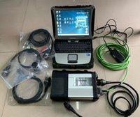 usado ecu venda por atacado-Top sd conectar c5 mb estrela diagnosticar c5 com laptop cf-19 ram 4g ssd 360gb mais novo xentry v2019.03 pronto para usar para 12v 24v